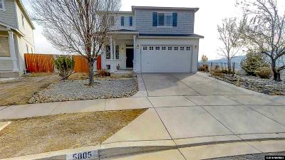 Reno Single Family Home New: 5805 September Circle