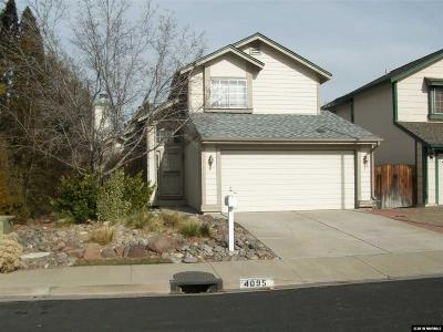 Reno Single Family Home New: 4095 Perro Lane