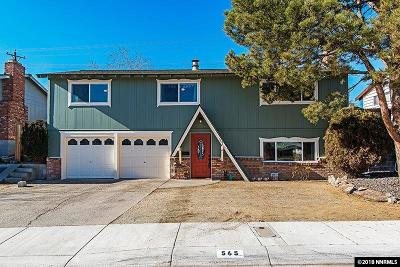 Reno Single Family Home New: 565 Northstar