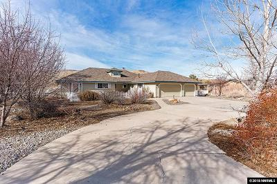 Washoe County Single Family Home Active/Pending-Loan: 19685 Paddlewheel Ln