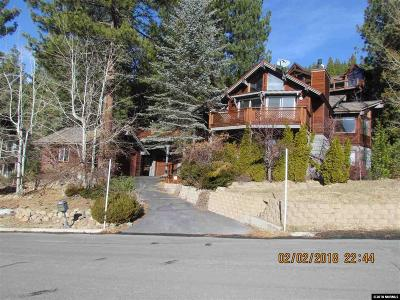Incline Village Single Family Home Auction: 744 Tyner Way