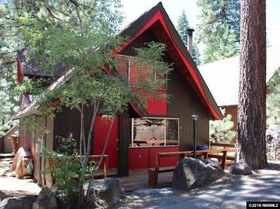 Incline Village Single Family Home For Sale: 599 Crest Lane #61