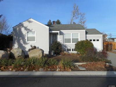 Washoe County Single Family Home Active/Pending-Loan: 1625 Knox Avenue