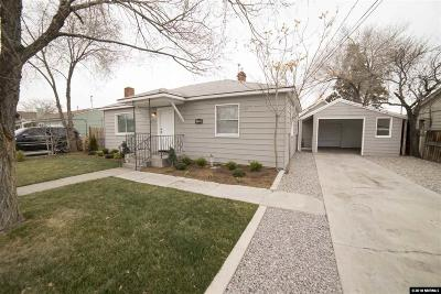 Reno Single Family Home Active/Pending-Call: 1520 Oliver