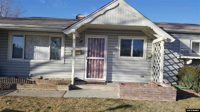 Sparks Single Family Home Active/Pending-Short Sale: 500 Richards