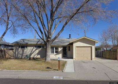 Washoe County Single Family Home Active/Pending-Loan: 3140 Probasco Way