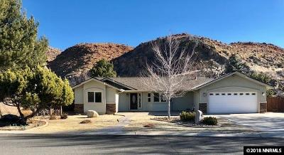 Washoe County Single Family Home Active/Pending-Loan: 165 Cliff View Dr