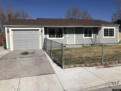 Sparks Single Family Home Active/Pending-Call: 560 Tasker Way