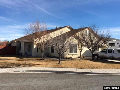 Washoe County Single Family Home New: 18 Silver Springs Ct