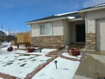 Fernley Single Family Home New: 420 Fort Sutter