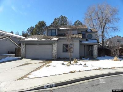 Carson City Single Family Home Active/Pending-Loan: 4722 Blackrock Court