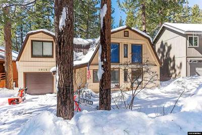 Incline Village Single Family Home For Sale: 1015 Tomahawk Trail