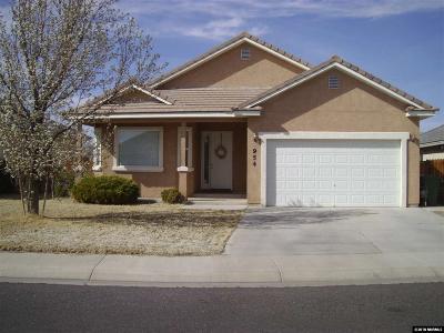 Fallon Single Family Home For Sale: 954 Maple Way