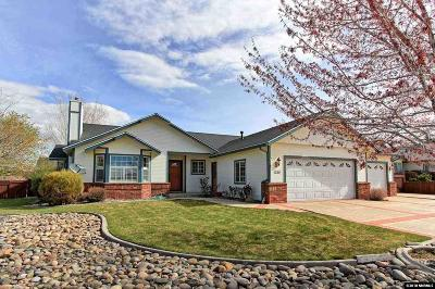 Gardnerville Single Family Home Active/Pending-House: 1280 Topaz Lane