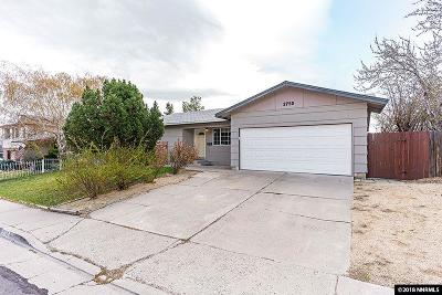Reno Single Family Home For Sale: 2750 Judith