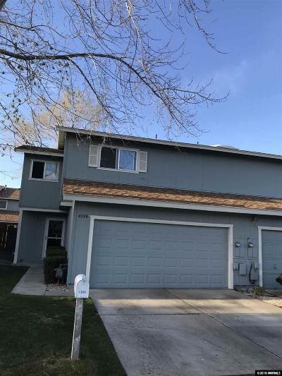Carson City Condo/Townhouse For Sale: 4226 Mulligan Drive