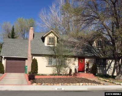 Reno Single Family Home New: 4640 Aster Drive