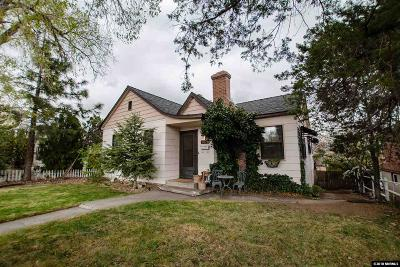 Reno Single Family Home For Sale: 1030 Lander St
