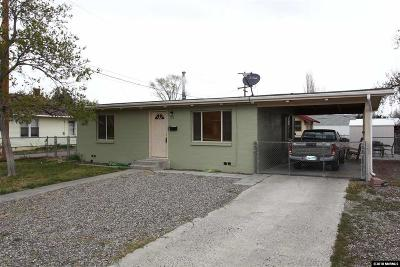Yerington Single Family Home For Sale: 116 E Bridge Street