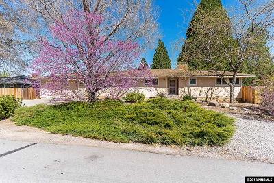 Washoe County Single Family Home Active/Pending-House: 13355 Mahogany
