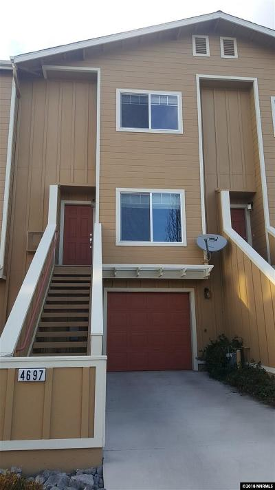 Reno Condo/Townhouse For Sale: 4697 Kathleen Denise
