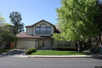 Reno Single Family Home Active/Pending-Call: 4564 Windcrest Drive