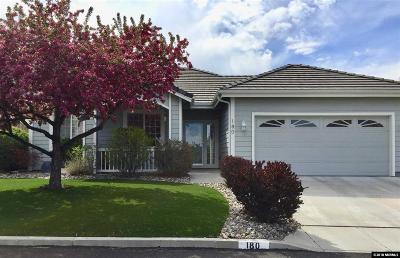 Carson City Single Family Home Active/Pending-Call: 180 Coventry Drive