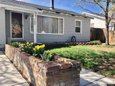 Reno Single Family Home For Sale: 740 Hood