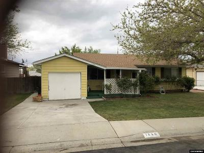 Washoe County Single Family Home Active/Pending-Loan: 1350 Surf Way