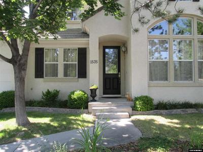 Reno Single Family Home For Sale: 1535 Caughlin Creek Road