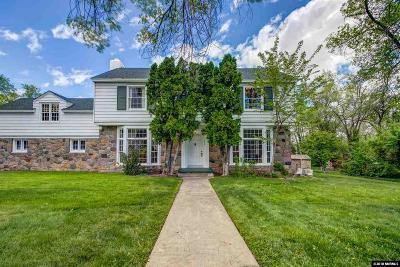 Washoe County Single Family Home For Sale: 390 Morningside Drive