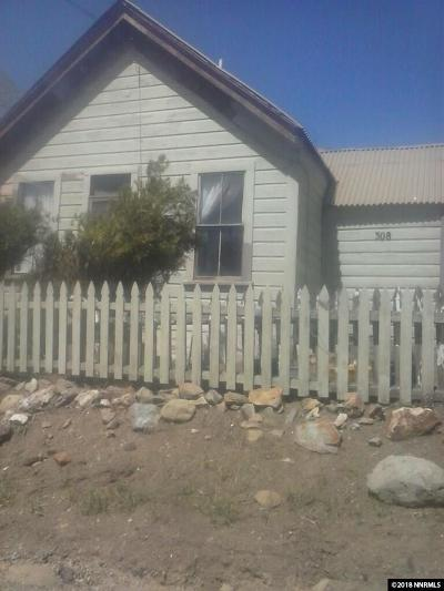 Storey County Single Family Home For Sale: 308 N A Street
