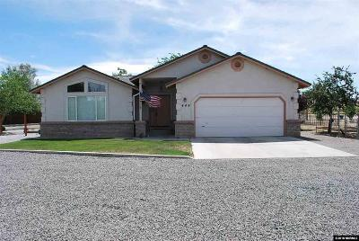 Fernley Single Family Home Active/Pending-Loan: 449 Crimson Road