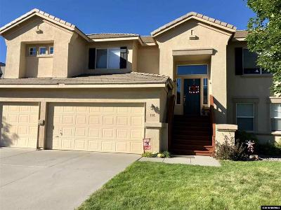 Washoe County Single Family Home New: 186 River Front Dr