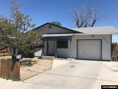 Fallon Single Family Home Active/Pending-Loan: 845 Stains Road