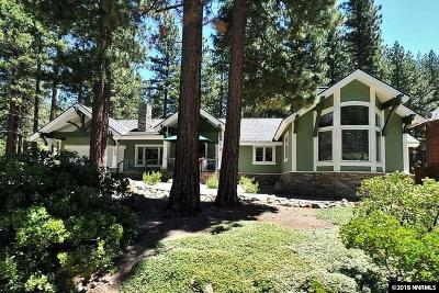 Incline Village Single Family Home For Sale: 1054 Mill Creek Rd