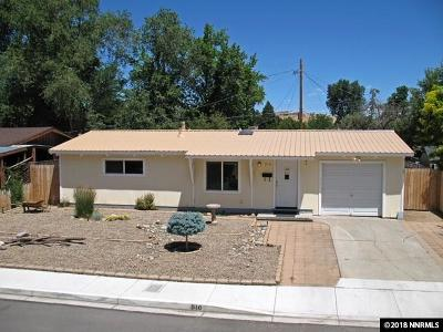 Sparks Single Family Home Active/Pending-Loan: 910 Russell