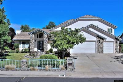 Reno Single Family Home For Sale: 4421 W Hidden Valley Drive