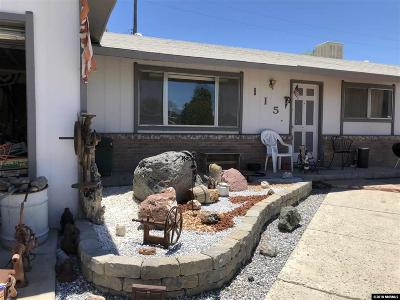 Fernley Single Family Home For Sale: 115 Comstock