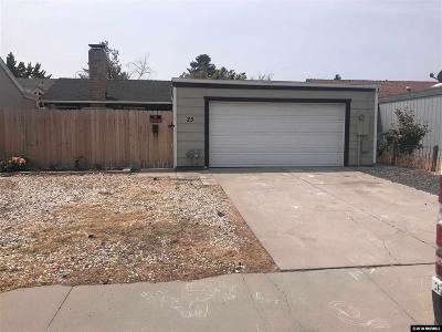 Carson City Single Family Home Active/Pending-Loan: 25 Granite Way