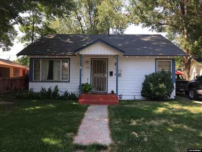 Carson City Single Family Home Active/Pending-Loan: 318 Lee