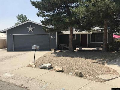 Carson City Single Family Home Active/Pending-Loan: 860 Folsom Court