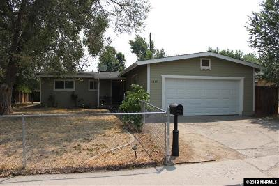 Carson City Single Family Home Active/Pending-House: 1217 E Musser St