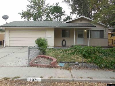 Carson City Single Family Home Active/Pending-Call: 1379 Jerry Ln
