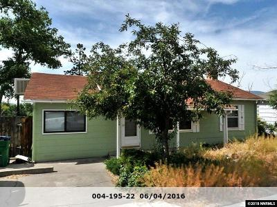 Washoe County Single Family Home New: 134 S Maddux