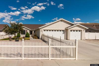 Fernley Single Family Home Price Reduced: 1383 White Bluffs Circle