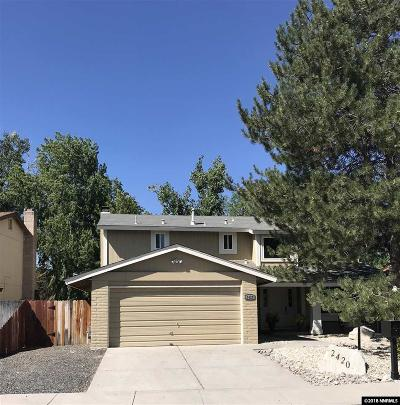 Carson City Single Family Home For Sale: 2420 Woodcrest