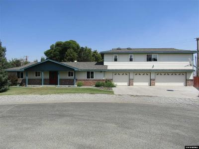 Yerington Single Family Home For Sale: 11 Cottonwood Ct.