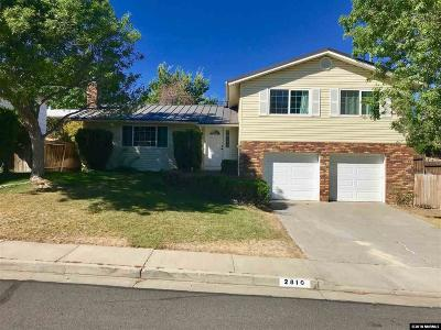 Reno Single Family Home New: 2810 Everett Dr