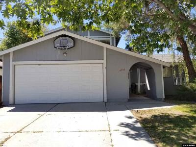 Reno Single Family Home New: 4390 Reggie Rd